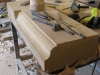 How we made a sandstone fireplace surround Chester Cheshire11