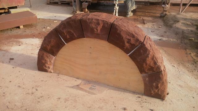 Red sandstone garden arch Helsby Cheshire 3