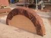 Red sandstone garden arch Helsby Cheshire 2