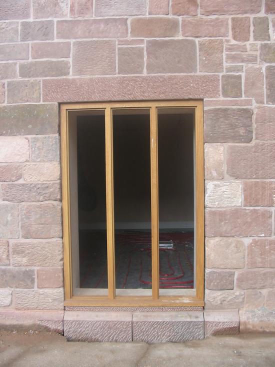Sandstone window Door Lintel in Carden Cheshire