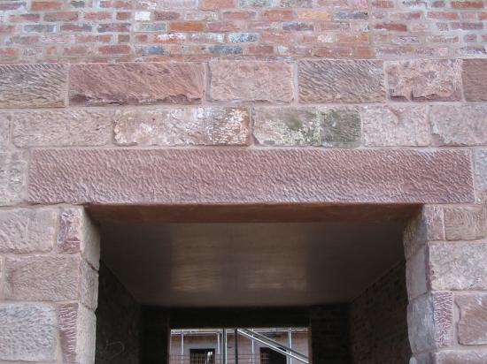 Sandstone window Lintel in Carden Cheshire