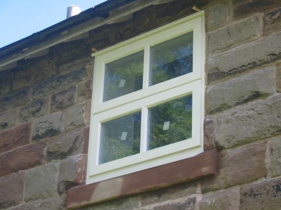 Sandstone window sill in Frodsham Cheshire