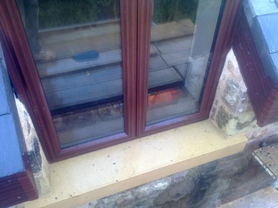 Sandstone window sill in Ruthin Denbighshire