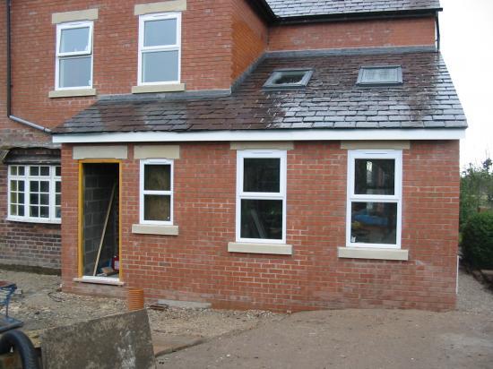 Sandstone window sills in Chester Cheshire