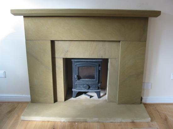 Cefn sandstone fire surround Wrexham