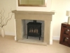 Stone chamfered fireplace