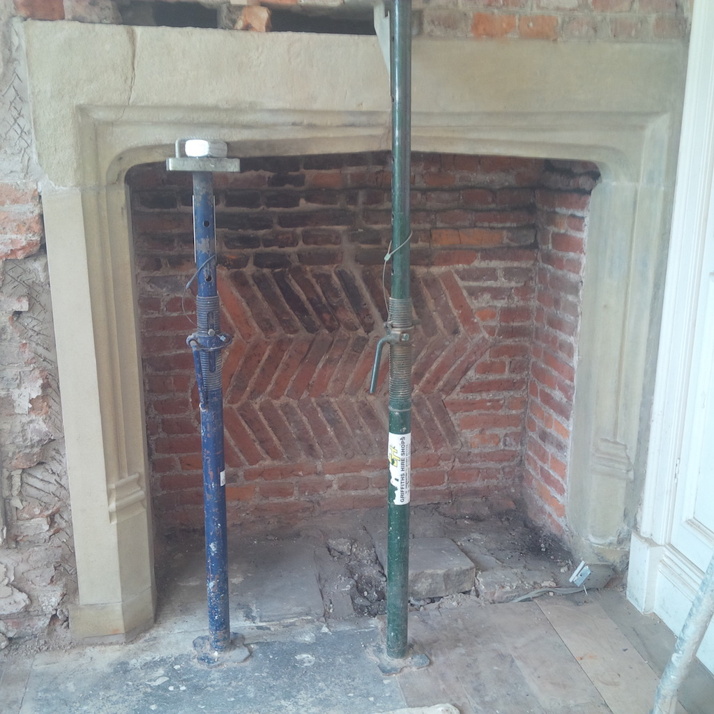 Trevalyn Hall fireplace restoration Wrexham4