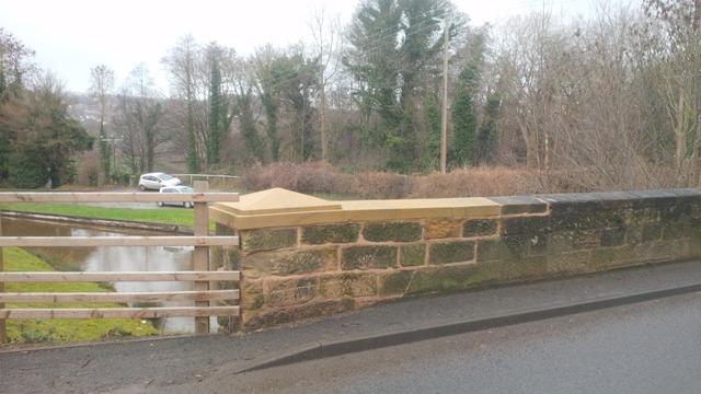 stone copings Irishman's Bridge on the Llangollen Canal Grade II listed