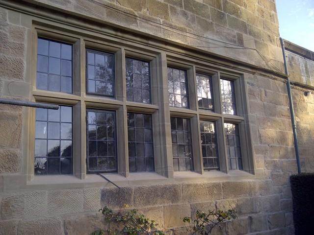 Full sandstone window surround