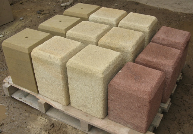 Pallet of staddle stones